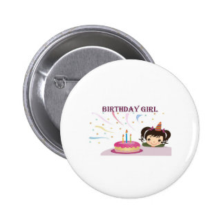 Birthday Girl 2 Inch Round Button