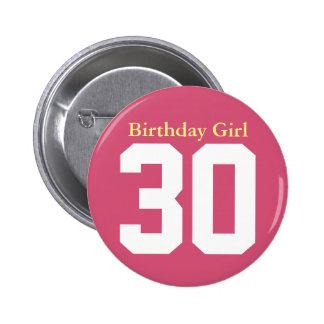 Birthday Girl 30 Macaron Rond 5 Cm