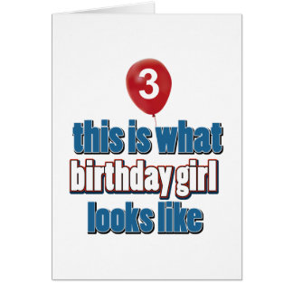 Birthday Girl 3 Cards