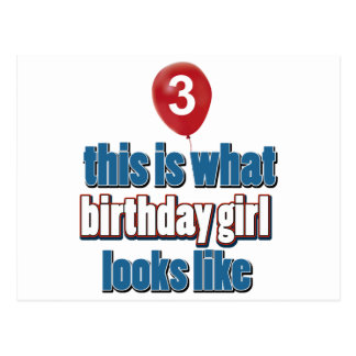 Birthday Girl 3 Postcards