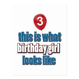 Birthday Girl 3 Postcard