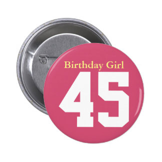 Birthday Girl 45 Macaron Rond 5 Cm