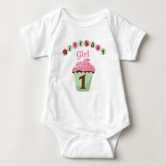 Birthday Girl Age 1 Baby Bodysuit