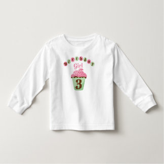 Birthday Girl Age 3 Toddler T-shirt