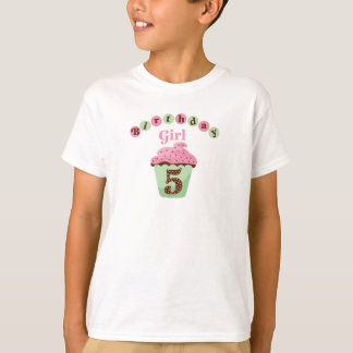 Birthday Girl Age 5 T-Shirt