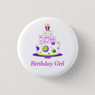 Birthday Girl Badge 1 Inch Round Button