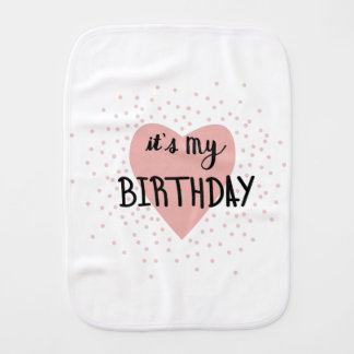 Birthday Girl Burp Cloth