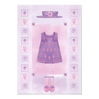"Birthday Girl Cupcake Pastel 5"" X 7"" Invitation Card"