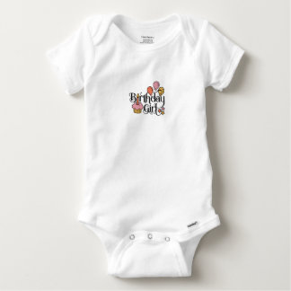 Birthday Girl Cute Design for 1st and 2nd Birthday Baby Onesie