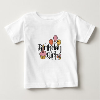 Birthday Girl Cute Design for 1st and 2nd Birthday Baby T-Shirt