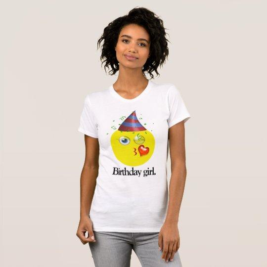 Birthday Girl Emoji T-Shirt