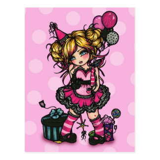 Birthday Girl Fairy Card Invite Postcard