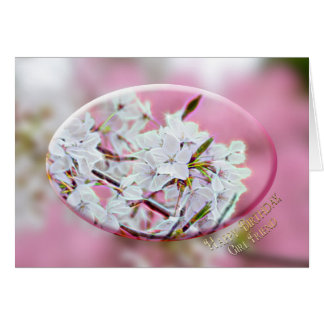 BIRTHDAY - Girl friend - Apple Blossoms - Pink Card