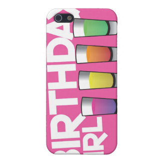 Birthday Girl greeting card in hot pink! iPhone 5/5S Cases