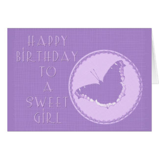 Birthday Girl Greeting Card - Mourning Cloak