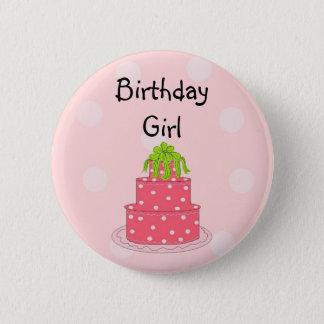 Birthday Girl - Pink Cake 2 Inch Round Button