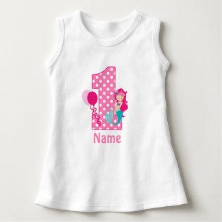 Birthday Girl Pink Mermaid Personalized Dress