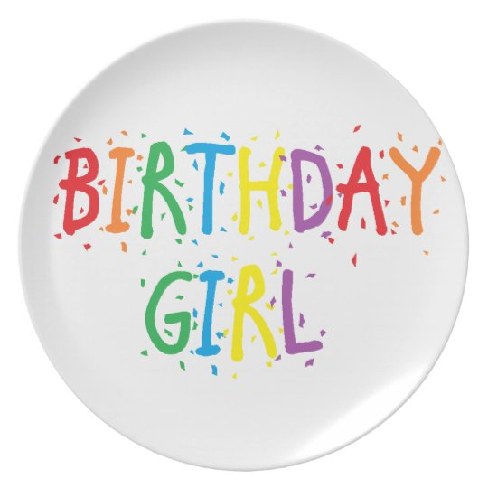 """Birthday Girl"" Plate"
