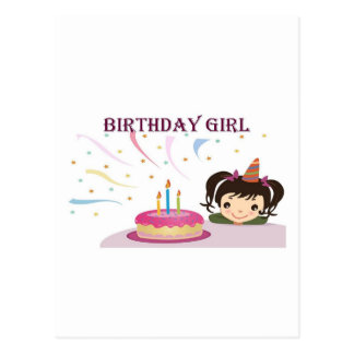 Birthday Girl Postcard