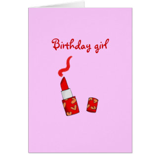 Birthday girl (red lipstick) card