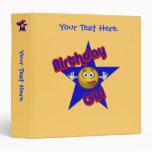Birthday Girl Silly Smiley Face Binder Vinyl Binder