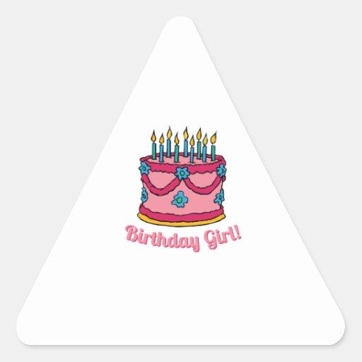 Birthday Girl Triangle Sticker