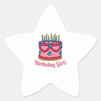 Birthday Girl Star Sticker