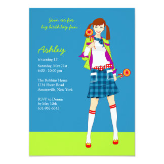 Birthday Girl Teen Party Invitations