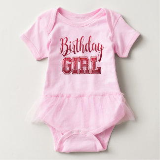 Birthday Girl Text Design Baby Bodysuit