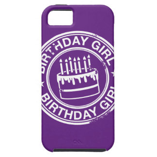 Birthday Girl -white rubber stamp effect- iPhone 5 Cases