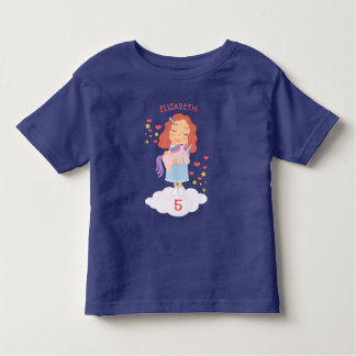 Birthday Girl With Cool Sweet Unicorn Trendy Funny Toddler T-shirt