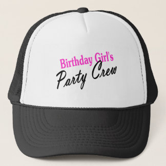 Birthday Girls Party Crew Trucker Hat