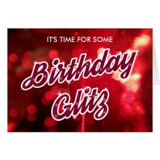 Birthday Glitz Card