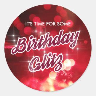Birthday Glitz Sticker