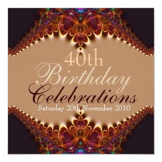Birthday Golden Earth Celebrations Invitations