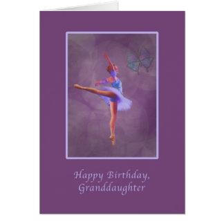 Birthday, Granddaughter, Ballerina in Arabesque Card