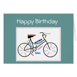 Birthday Greeting  Bike Cycle, Sport Motivational Card