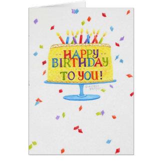 Birthday Greeting Card Happy Birthday To You Cake