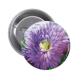 BIRTHDAY GREETING FLOWERS by SHARON SHARPE 2 Inch Round Button