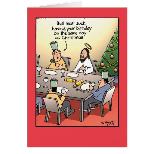 Birthday Greeting Suck Humor Christmas Card