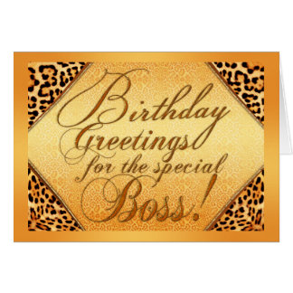 Birthday greetings for the special boss greeting card