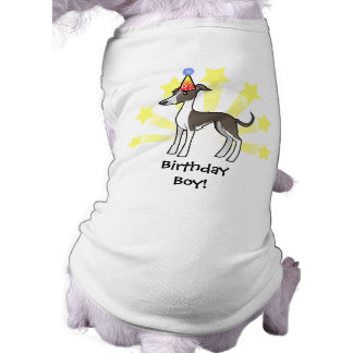Birthday Greyhound / Whippet / Italian Greyhound Pet Shirt