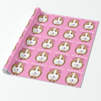 Birthday Guinea Pig Wrapping Paper
