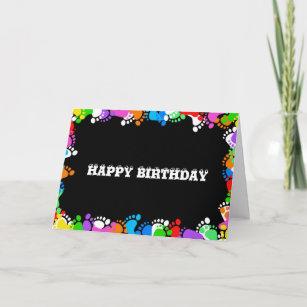 Birthday Happy Feet Card
