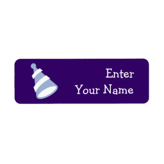 Birthday Hat Return Address Label