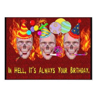 "Birthday Hell 5"" X 7"" Invitation Card"