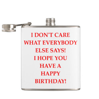 birthday hip flask