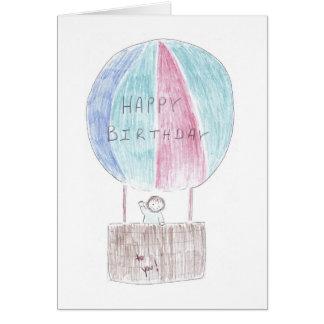 Birthday Hotair Ballon Card