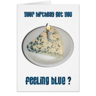 Birthday Humor - Blue Cheese Card