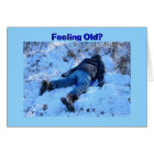 Birthday Humour Sledding Accident Card